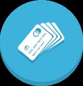 Integração com Redecard, Cielo e Getnet que aceitam a maioria dos cartões do mercado